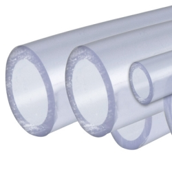 "4"" Clear Rigid Schedule 40 PVC Pipe"