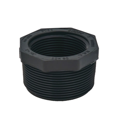 "2"" x 3/4"" Schedule 80 Gray PVC Threaded Reducing Bushing"