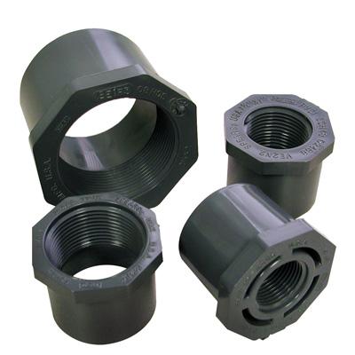 PVC Schedule 40 Spigot x FIPT Reducing Bushings