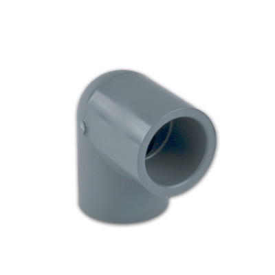 "3"" Light Gray Schedule 80 CPVC 90° Socket Elbow"