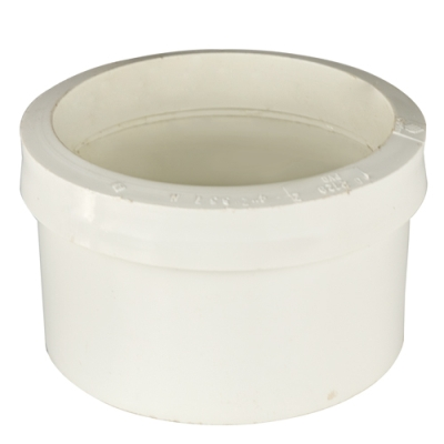 White PVC Cast Iron to Plastic Pipe Drain Fitting