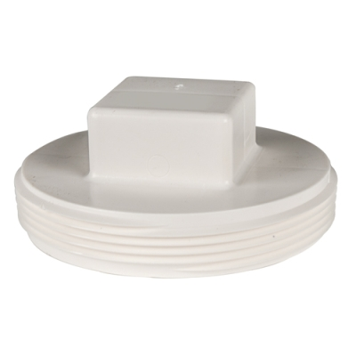 White PVC Threaded Plug