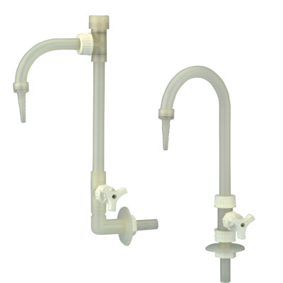 PP Wall Mount Adjustable Neck Goose Neck Faucet w/Vacuum Breaker