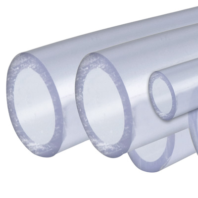 "12"" Clear Rigid Schedule 40 PVC Pipe"