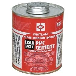 Quart Whitlam PVC Clear Low VOC Medium Bodied Cement