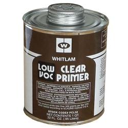 Quart Low VOC Clear Plastic Pipe Primer