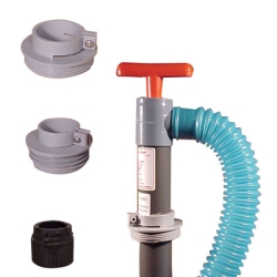 Industrial Hand Pump with 6' Discharge Hose & 83mm Buttress Adapter for Poly Carboys