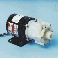 AC-2CP-MD March ® Magnetic Drive Polypropylene Pump with 1/40 HP, 115v Air Cooled Motor