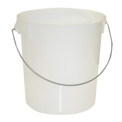 22 Qt. White Rubbermaid ® Container with Bail Handle (Lid Sold Separately)