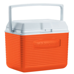Rubbermaid ® 10 Quart Orange Victory™ Cooler - 10.5