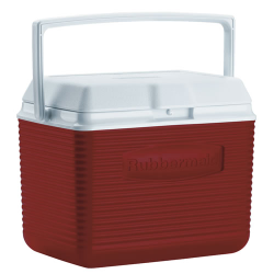 Rubbermaid ® 10 Quart Red Victory™ Cooler - 10.5