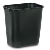 """28-1/8 Qt. Black Wastebasket - 14-3/8"""" L x 10-1/4"""" W x 15"""" H"""