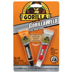 1 oz. Gorillaweld ® Steel Bond Epoxy Adhensive