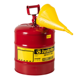 """5 Gallon Justrite ® Type I Safety Can with Funnel - 11-1/2"""" x 17"""""""