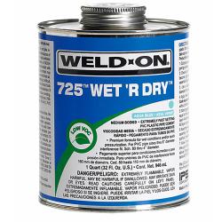 Pint Aqua Blue IPS ® Weld-On ® 725™ Wet 'R Dry™ Cement