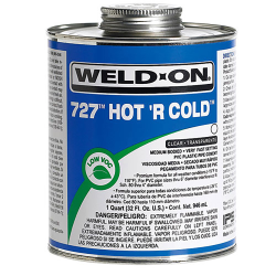 Quart Clear IPS ® Weld-On ® 727™ Hot 'R Cold™ Cement