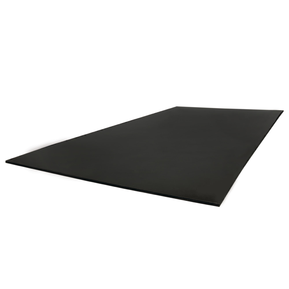 "1/2"" x 12"" x 12"" Black UV Resistant Polypropylene Sheet"