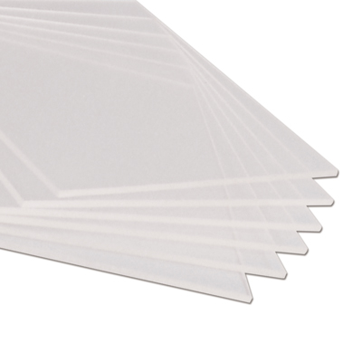 ".020"" x 21"" x 51"" Clear Rigid Vinyl Sheet"
