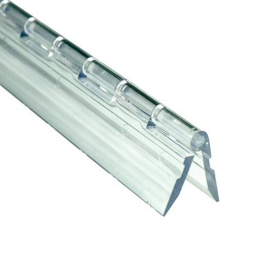 "1-3/4"" x 12"" Clear Acrylic DR® Piano Hinge"
