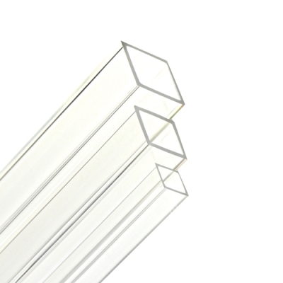 "1-1/4"" OD x 1"" ID Clear Extruded Square Acrylic Tubing"