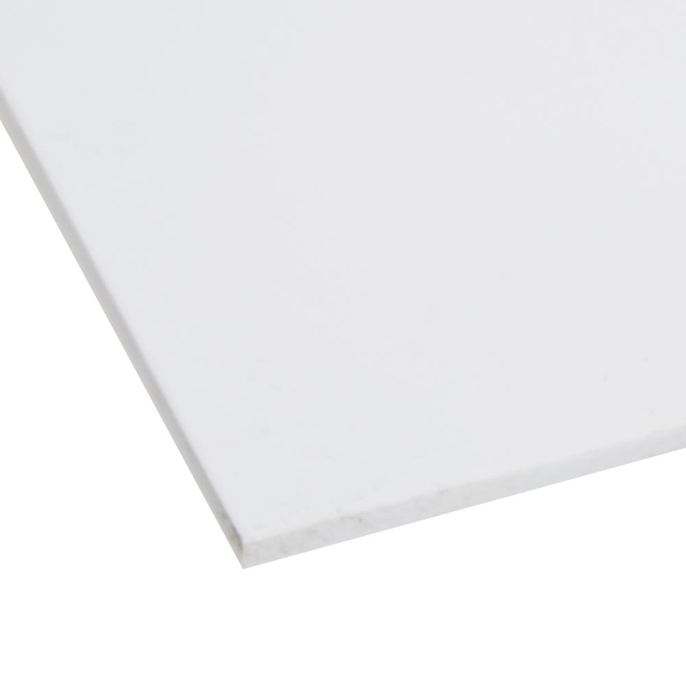"""1"""" x 48"""" x 96"""" White PVC Sheet"""