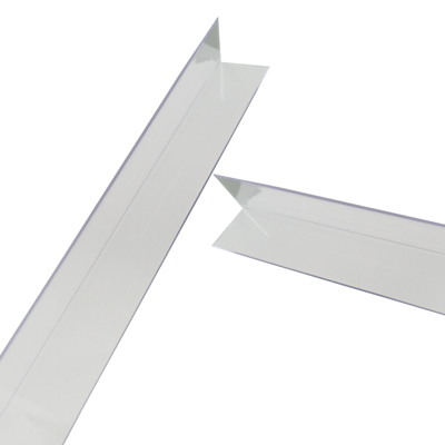 "3/4"" x 3/4"" x .045"" Clear Butyrate Corner Guard"