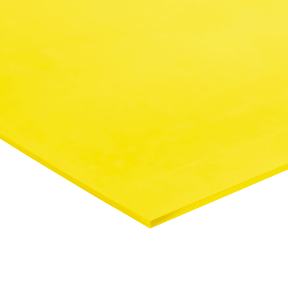 "3/16"" x 48"" x 48"" Yellow Polyuerethane 75A Sheet"