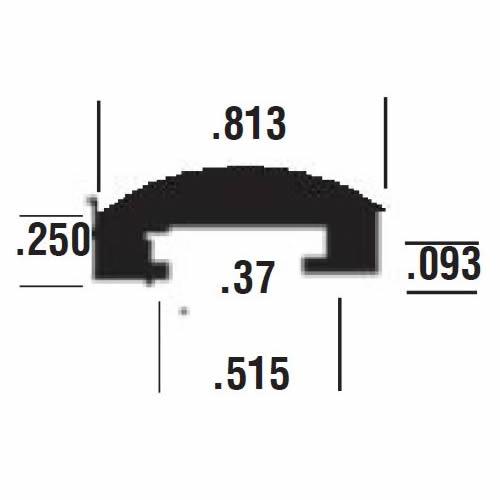 Duravar UHMW-PE Round-Top C-Rail Cover Profile