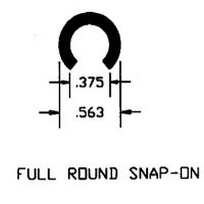 Duravar UHMW-PE Full Round Snap-On Profile