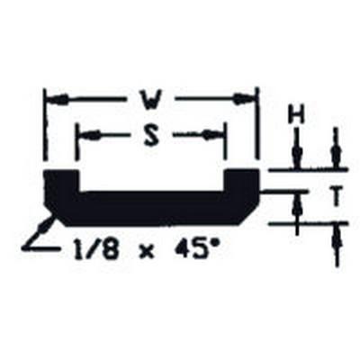 "UHMW Chain Guide ASA Chain #2040 (T = 5/16"", W = 1-1/4"", H = 1/8"", S = 7/8"")"
