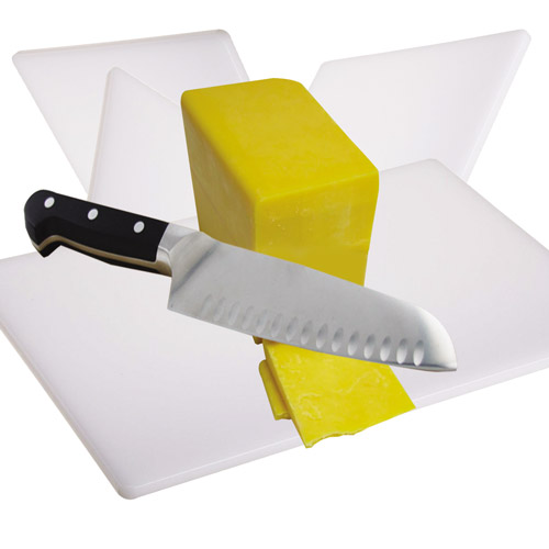 White Cutting Board for Dairy Products