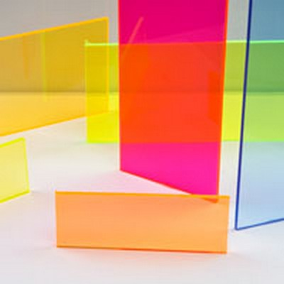"0.220"" (5.6mm) x 12"" x 24"" Yellow Fluorescent Acrylic Sheet"