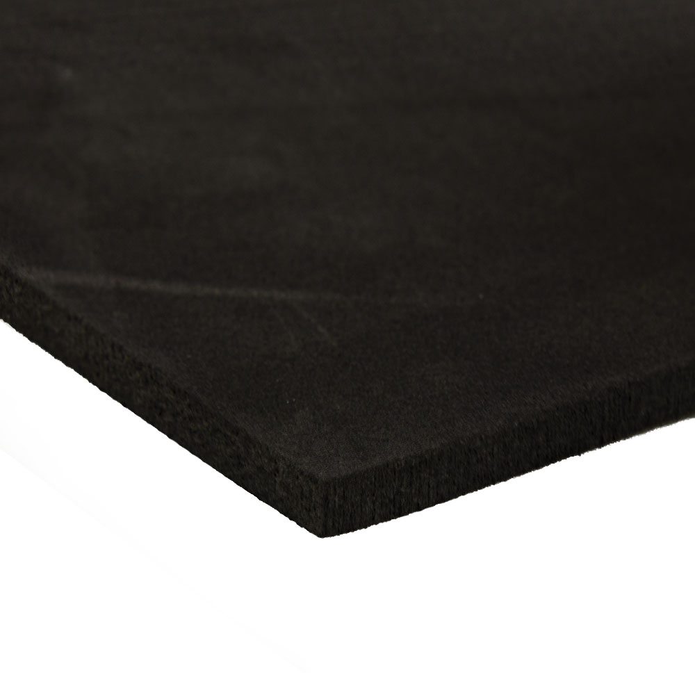 "12"" L x 12"" W x 1/2"" Hgt. 4 lb. Charcoal Crosslink PE Foam Sheet"