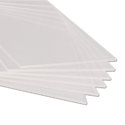 ".090"" x 23.5"" x 53.5"" Clear Rigid Vinyl Sheet"
