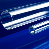 "3-1/2"" OD x 3-1/4"" ID Clear Extruded Acrylic Tubing"