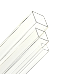 "2-1/4"" OD x 2"" ID Clear Extruded Square Acrylic Tubing"
