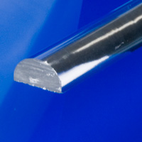 Clear Extruded Half Round Rod