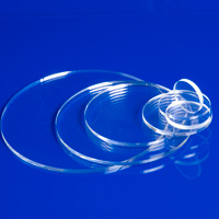 "2"" Diameter x 1/8"" Thick Clear Acrylic Circle"