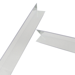 "1-1/4"" x 1-1/4"" x .080"" Clear Butyrate Corner Guard"
