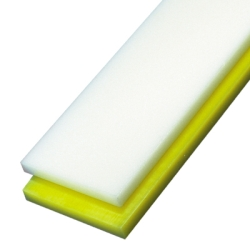 "1-1/2"" x 1"" Yellow UHMW Rectangular Bar"