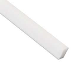 "3/8"" Natural Nylon Square Bar"
