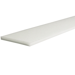 "1"" x 2"" Natural Nylon Rectangular Bar"