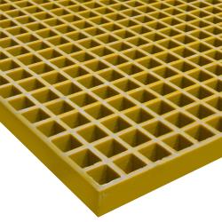 """48"""" x 96"""" Corvex ® Yellow; 1-1/2"""" x 1-1/2"""" Mesh x 1-1/2"""" Thick"""