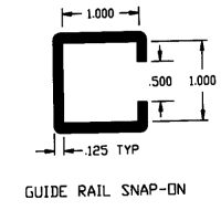 "Duravar UHMW-PE 1"" Guide Rail Snap-On Profile"