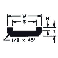 UHMW Chain Guide ASA Chain #2040 (T = 5/16