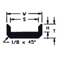 "UHMW Chain Guide ASA Chain #2080 (T = 5/8"", W = 2"", H = 3/8"", S = 1-1/2"")"