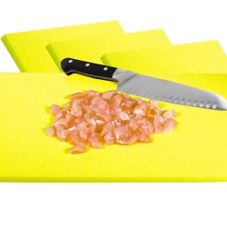 Yellow Cutting Board for Uncooked Poultry