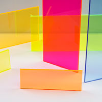 ".118""(3.0mm) x 12"" x 24"" Yellow Fluorescent Acrylic Sheet"