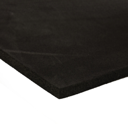 "24"" L x 24"" W x 1/2"" Hgt. 2 lb. Charcoal Crosslink PE Foam Sheet"