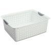 "Sterilite® Large White Ultra™ Basket - 15.875""L x 12.875""W x 6""H"